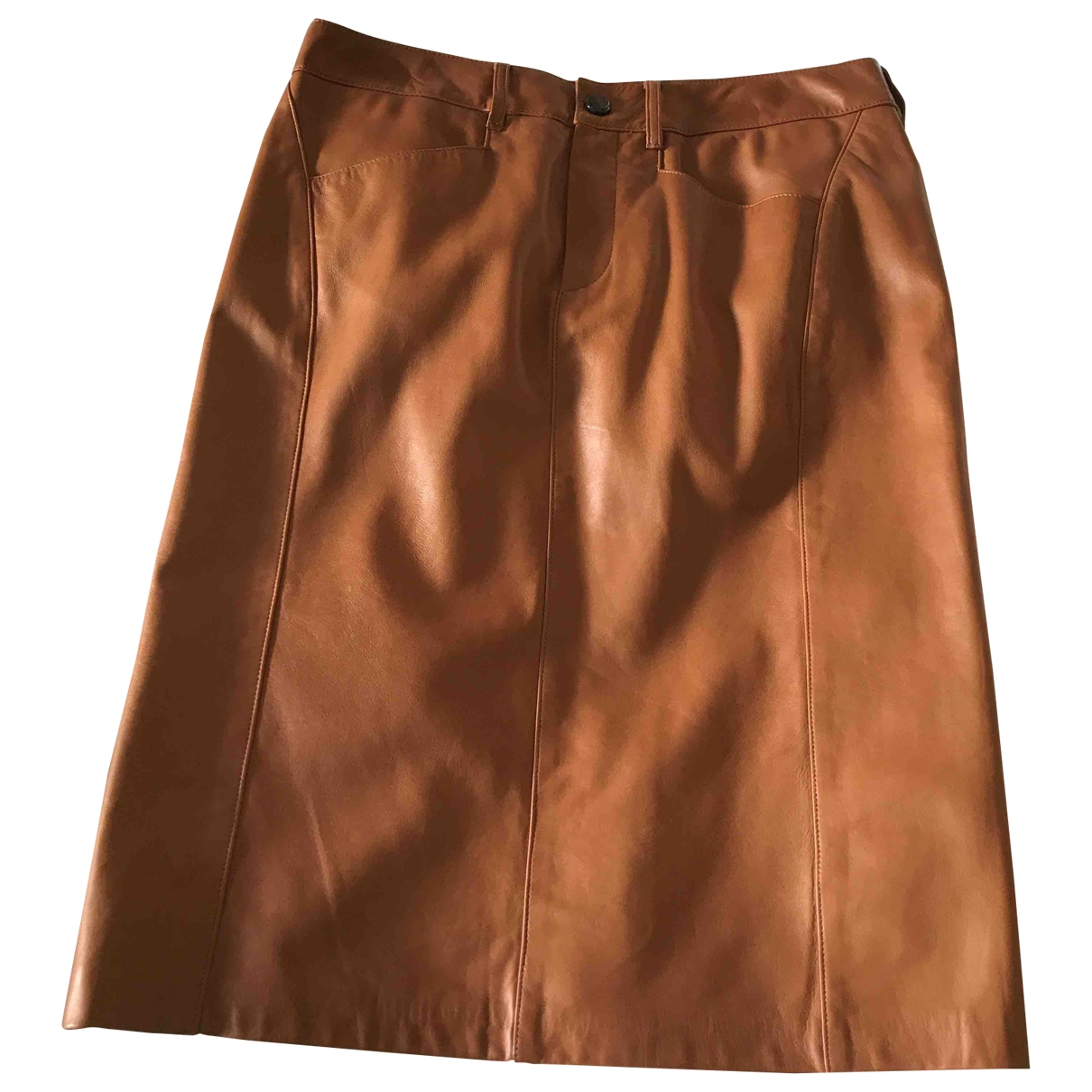 Ralph Lauren Collection \N Camel Leather skirt for Women 6 US
