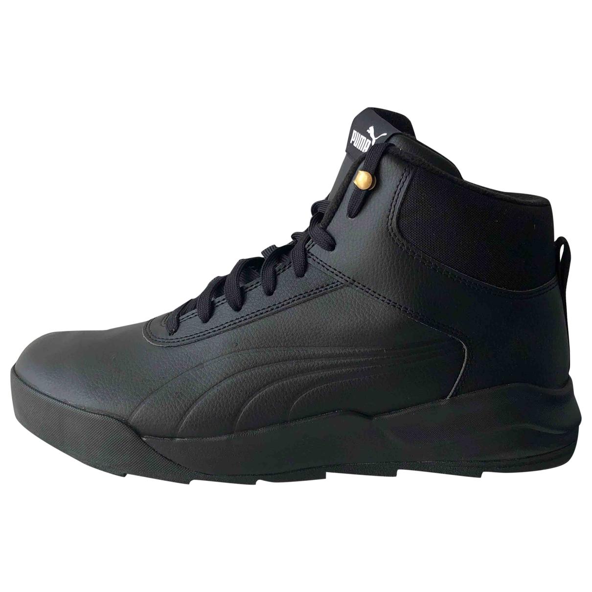 Puma - Baskets   pour homme en cuir - noir