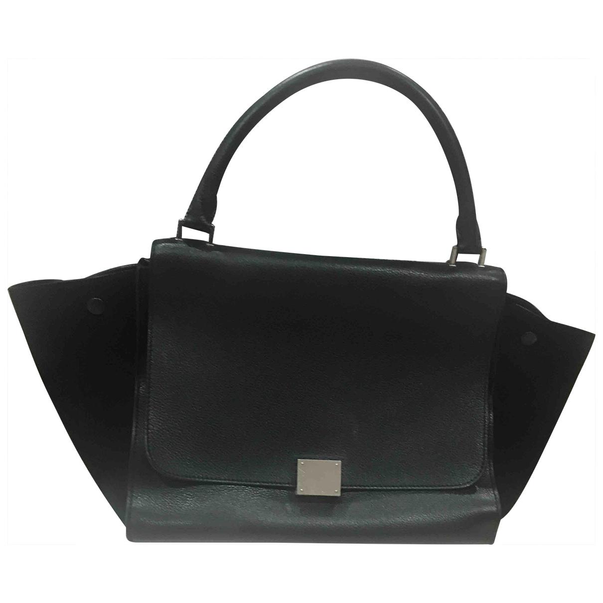 Celine Trapèze Black Leather handbag for Women N