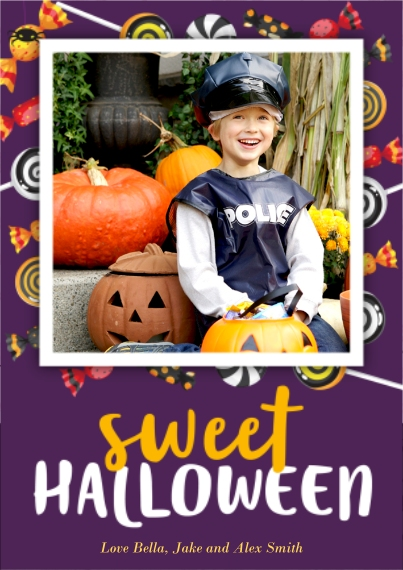 Halloween Photo Cards 5x7 Cards, Premium Cardstock 120lb with Elegant Corners, Card & Stationery -Sweet Halloween