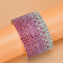 Breites Armband mit Strass Dekor
