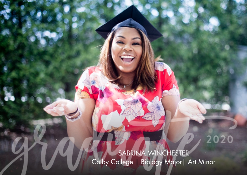 2020 Graduation Announcements 5x7 Cards, Premium Cardstock 120lb with Rounded Corners, Card & Stationery -2020 Grad Overlay by Tumbalina