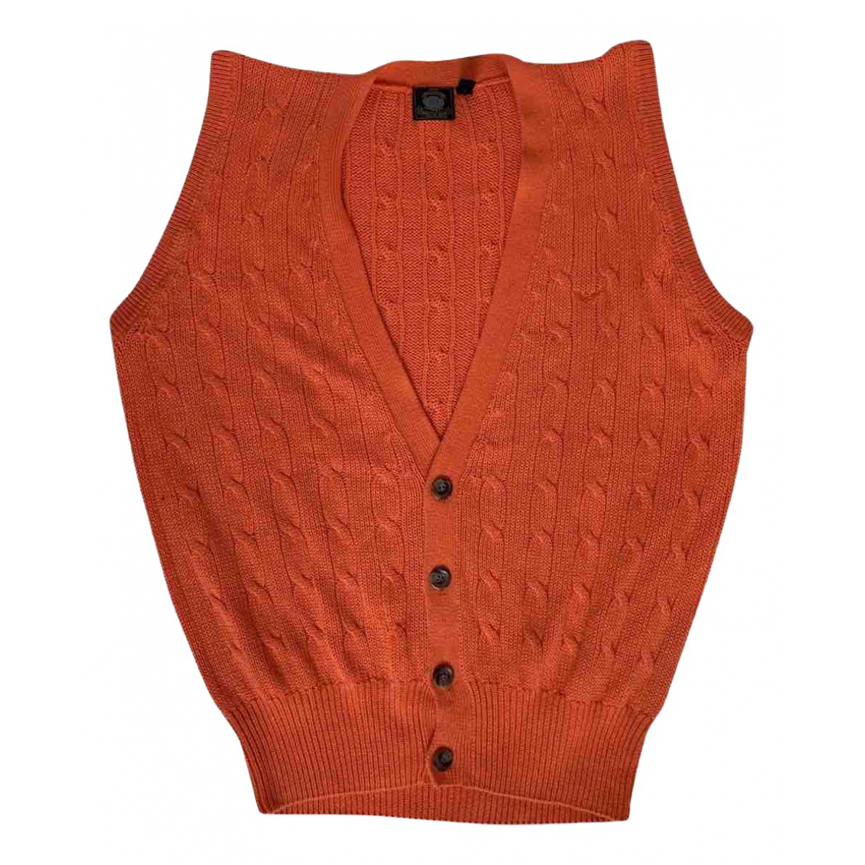 Emporio Armani - Pulls.Gilets.Sweats   pour homme en coton - orange