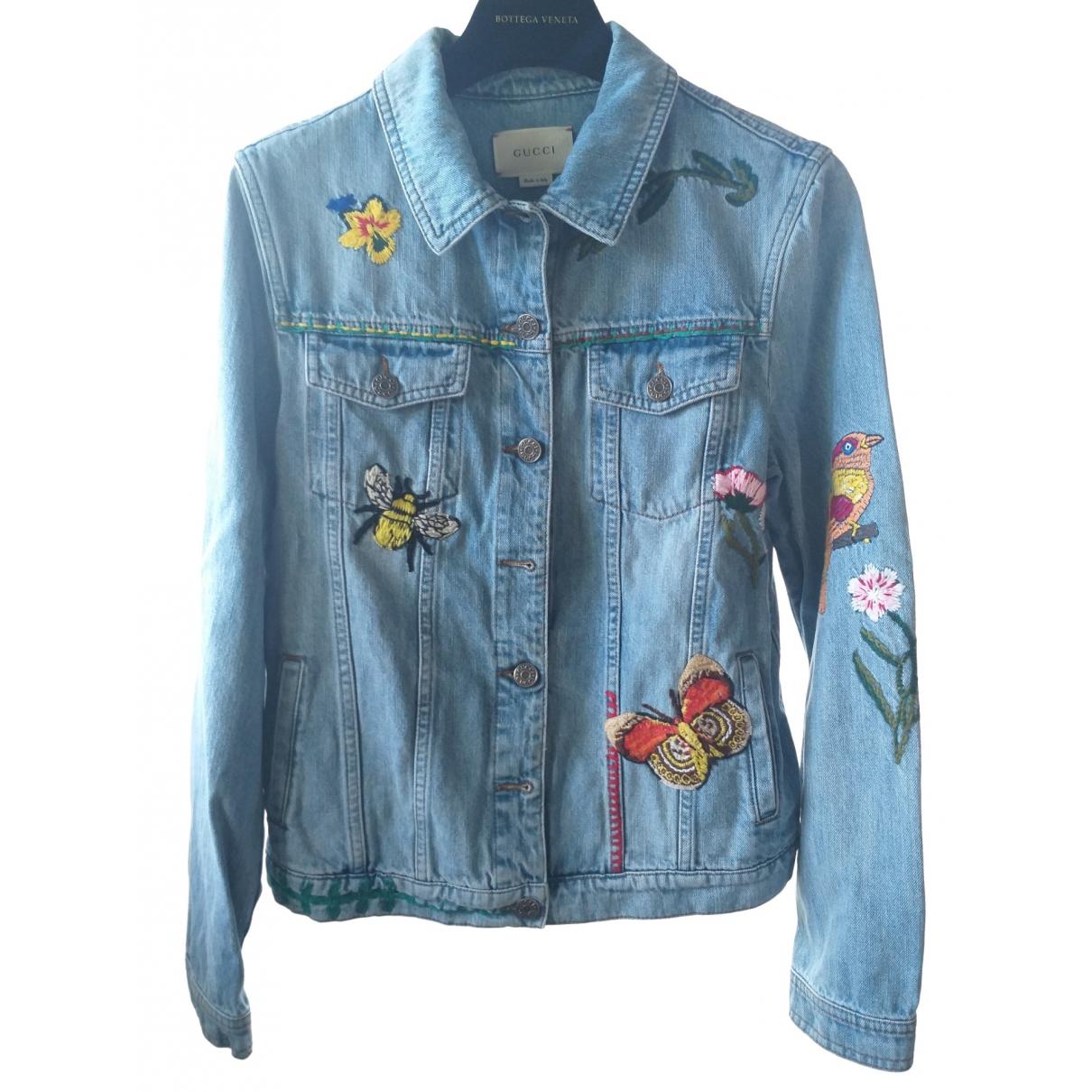 Gucci \N Jacke, Maentel in  Blau Denim - Jeans