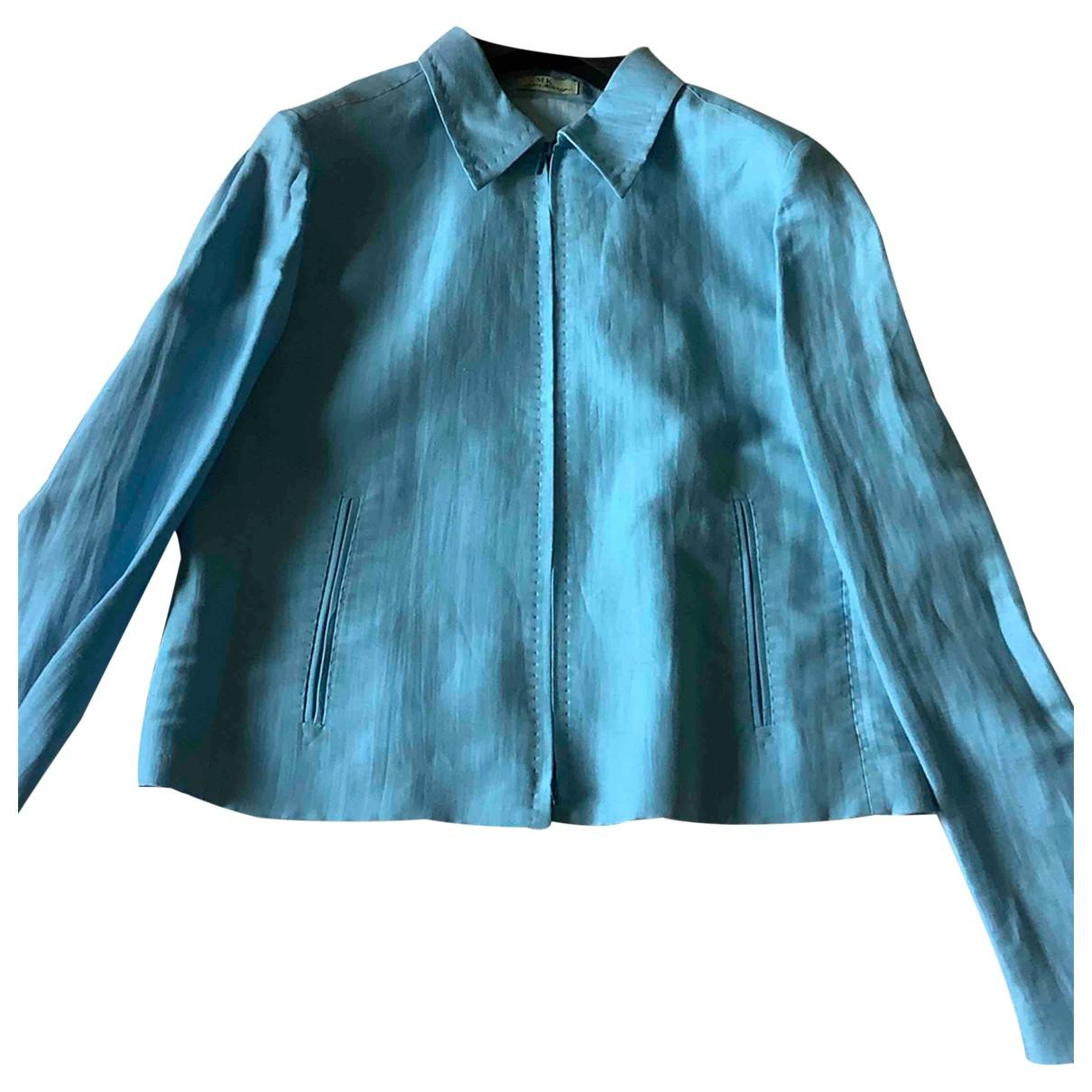 Maska \N Kleid in  Blau Leinen