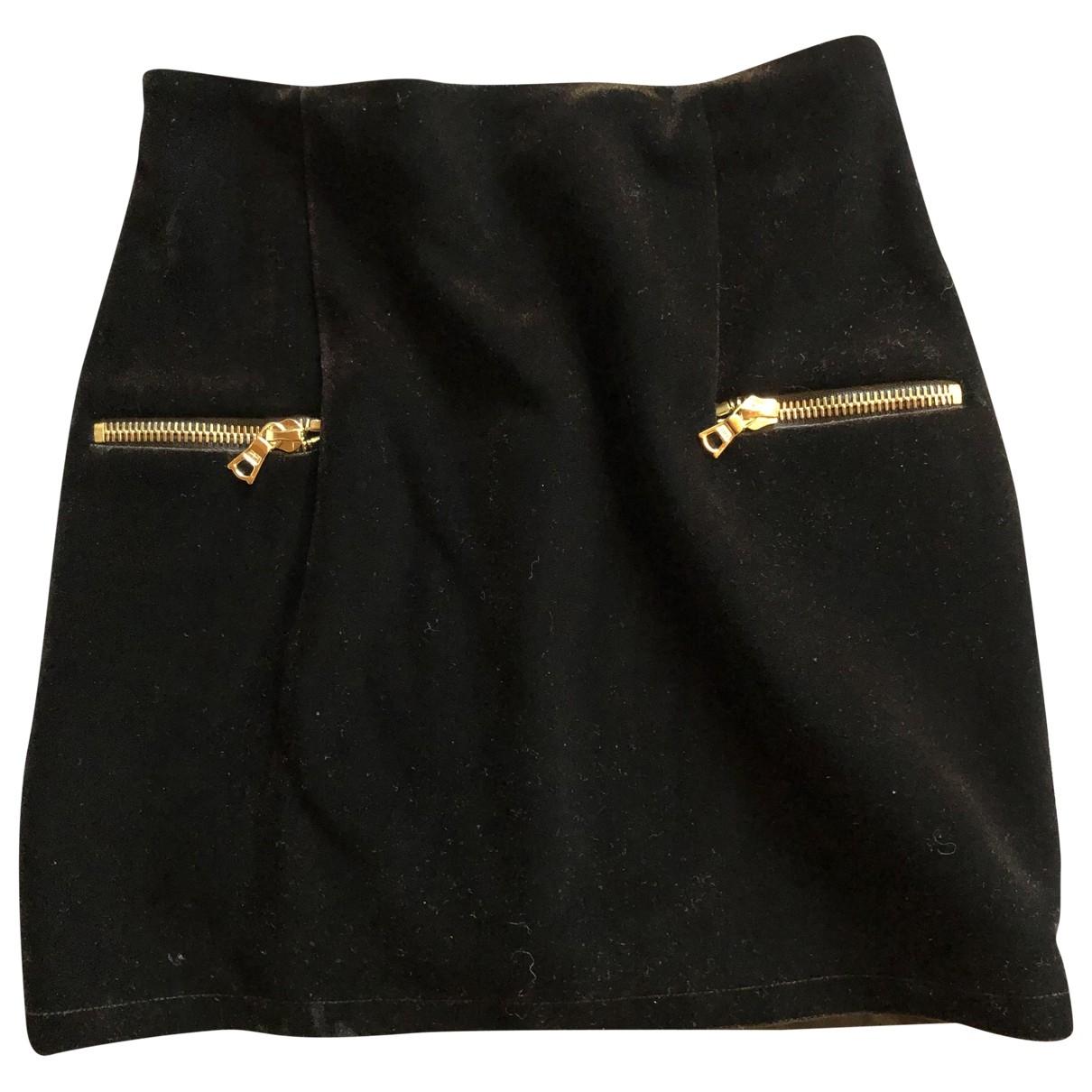 Sandro - Jupe   pour femme en velours - noir