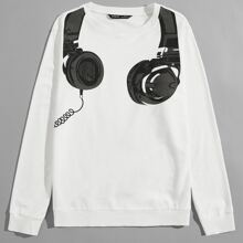 Pullover mit Headset Muster