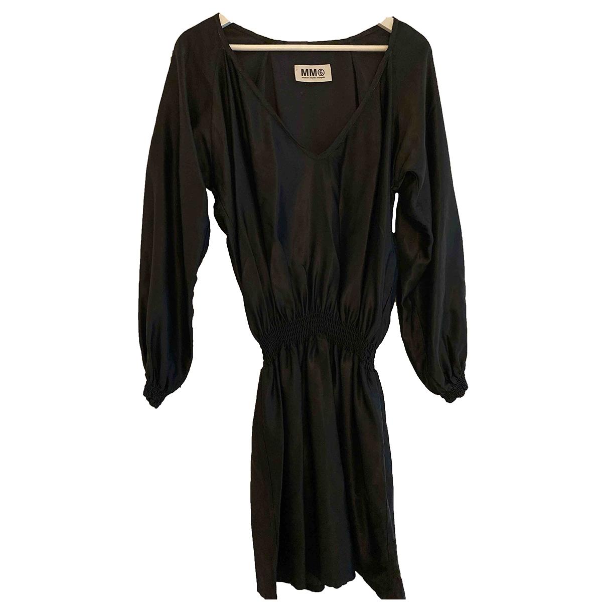 Mm6 \N Kleid in  Schwarz Viskose