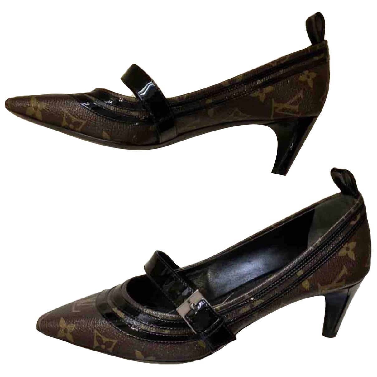 Louis Vuitton - Escarpins   pour femme en toile - marron