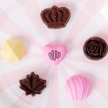6 Stuecke Schokolade formiger Radiergummi