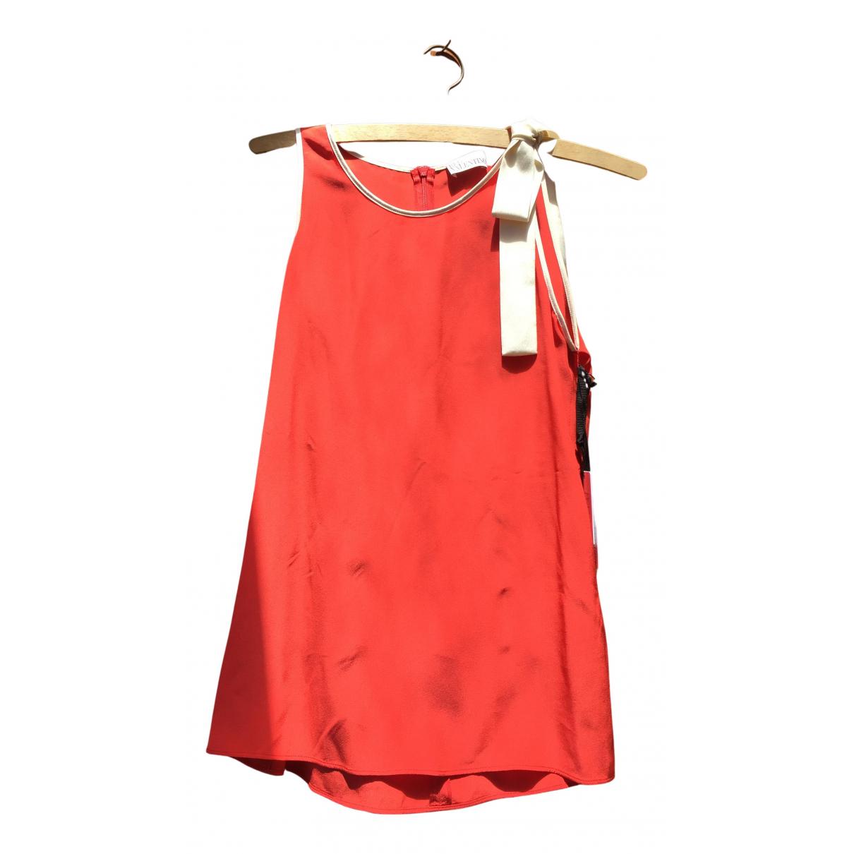 Red Valentino Garavani - Top   pour femme en soie - rouge