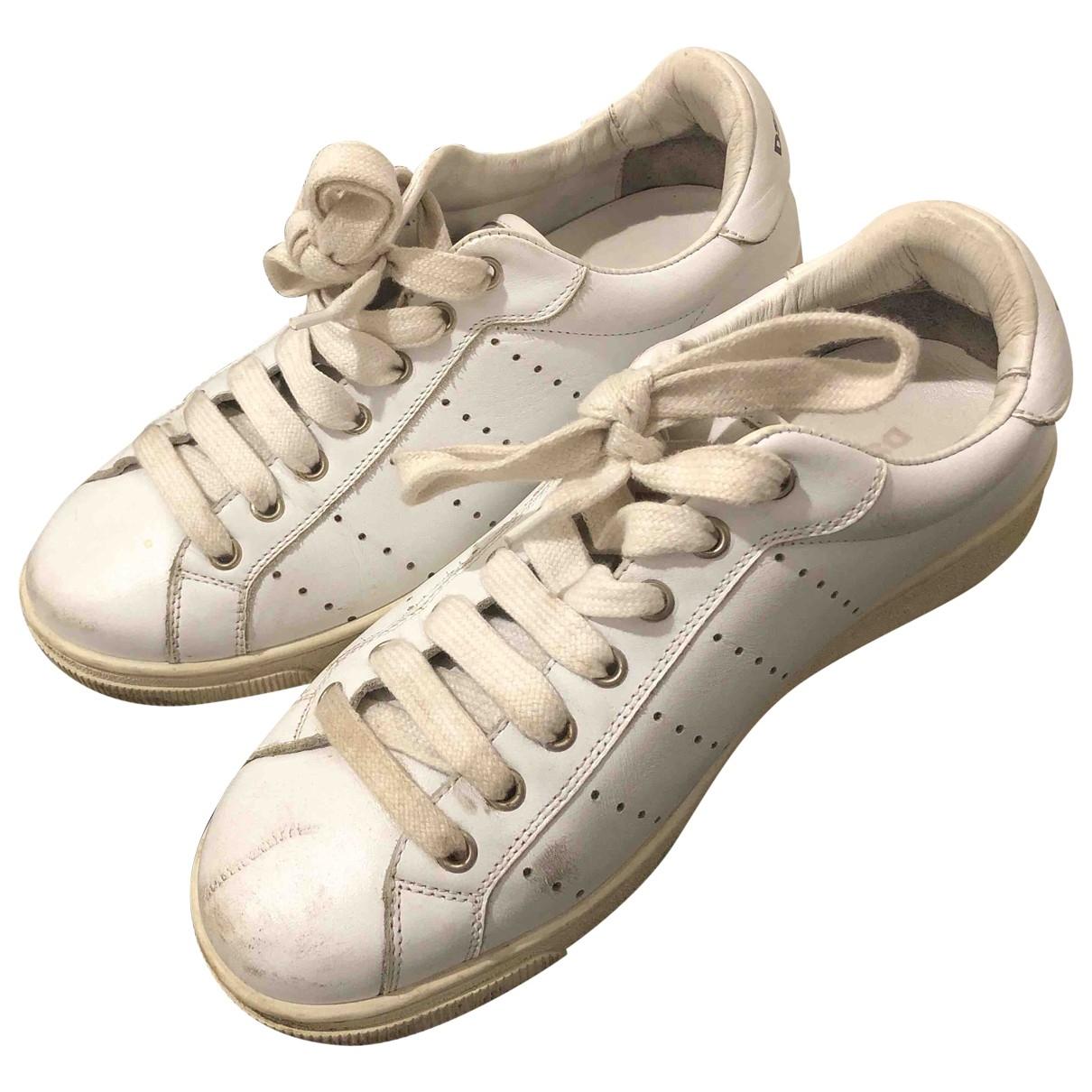 Dsquared2 - Baskets   pour femme en cuir - blanc