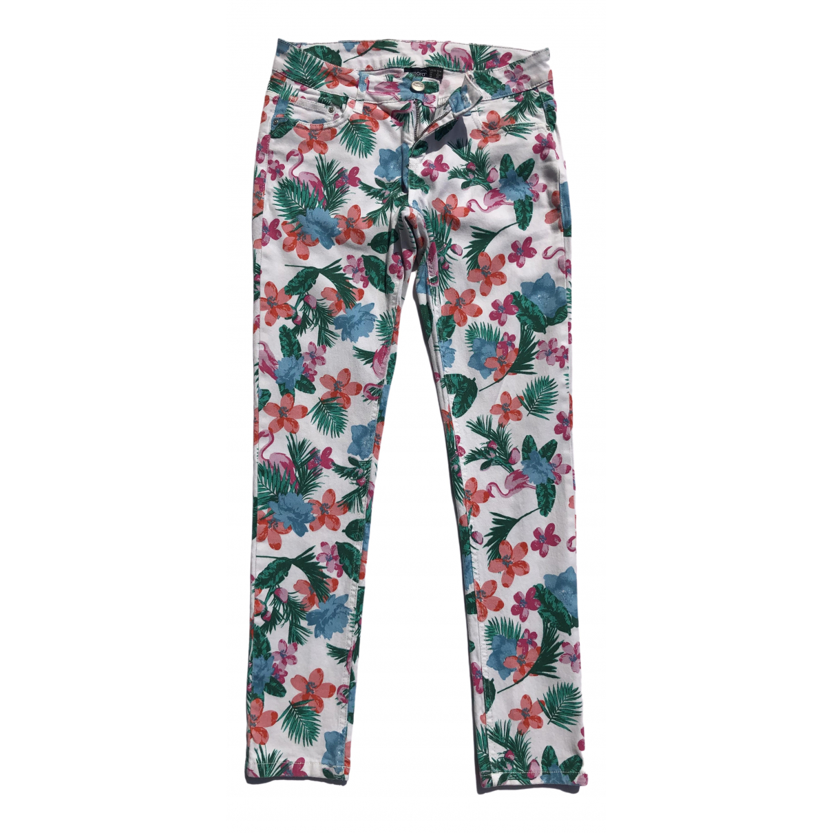 Non Signé / Unsigned \N Multicolour Cotton Jeans for Women 38 FR