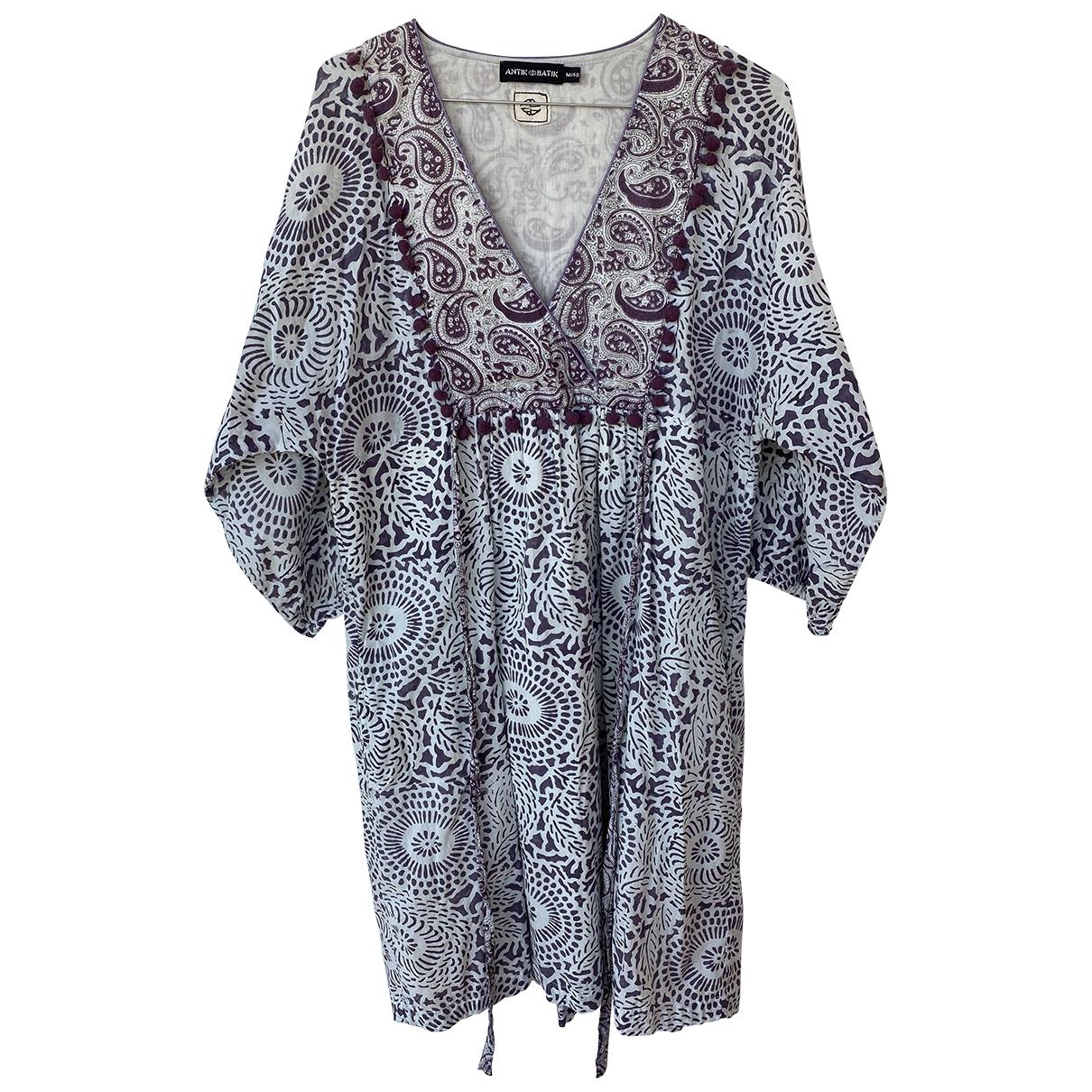 Antik Batik \N Kleid in  Lila Baumwolle