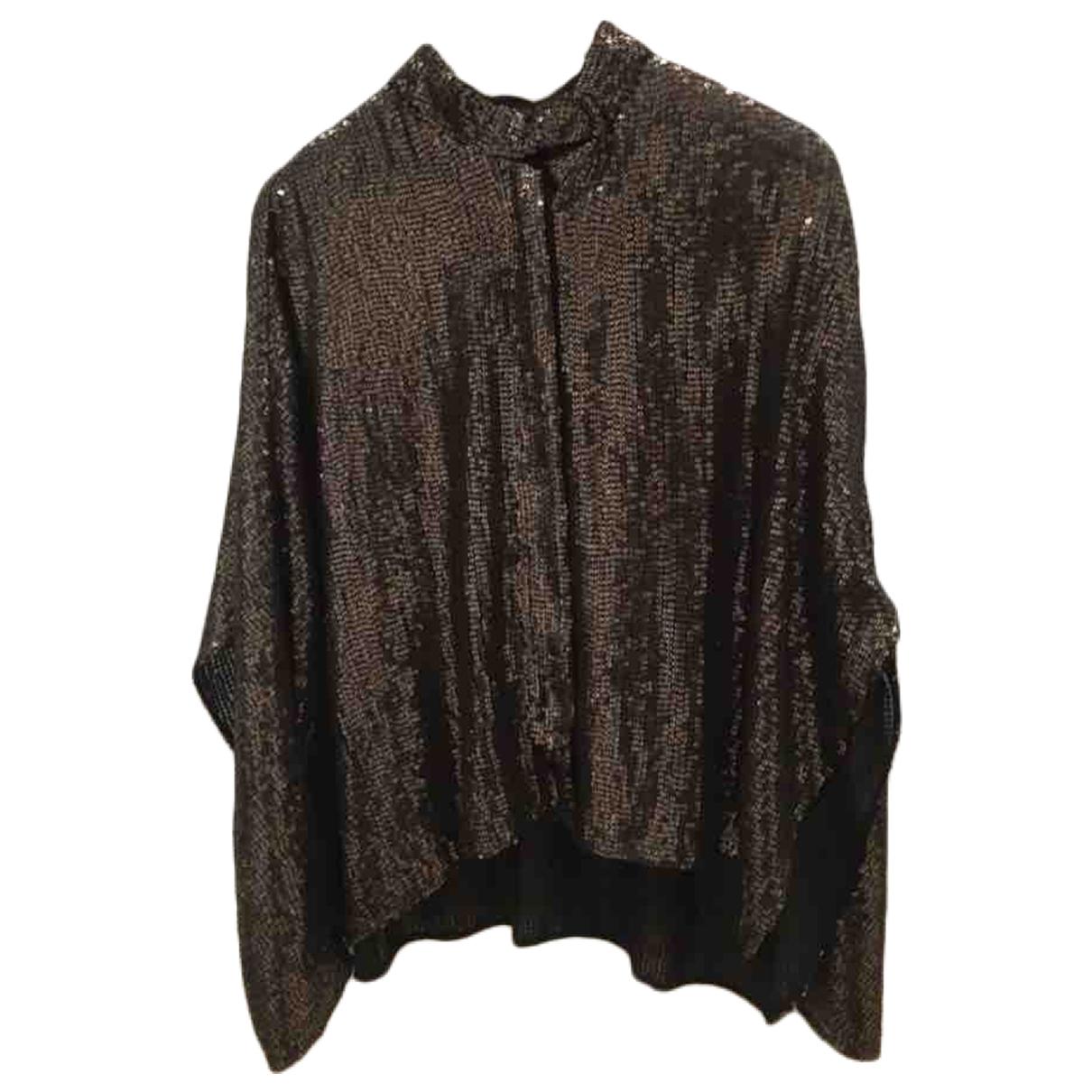 Zara - Top   pour femme en a paillettes - metallise
