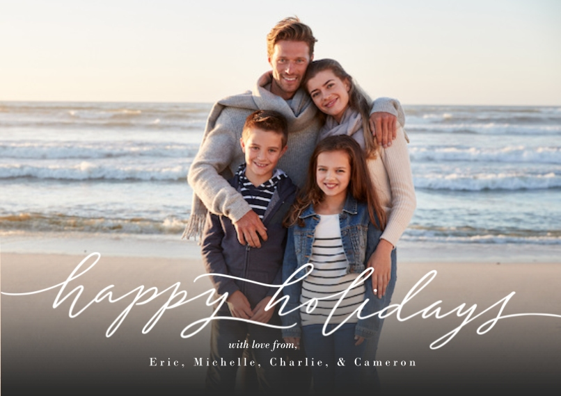 Christmas Photo Cards 5x7 Cards, Premium Cardstock 120lb, Card & Stationery -Script Holidays