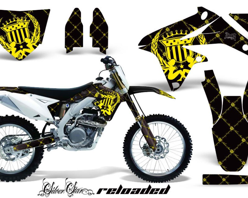AMR Racing Dirt Bike Decal Graphics Kit Sticker Wrap For Suzuki RMZ450 2008-2017áRELOADED YELLOW BLACK