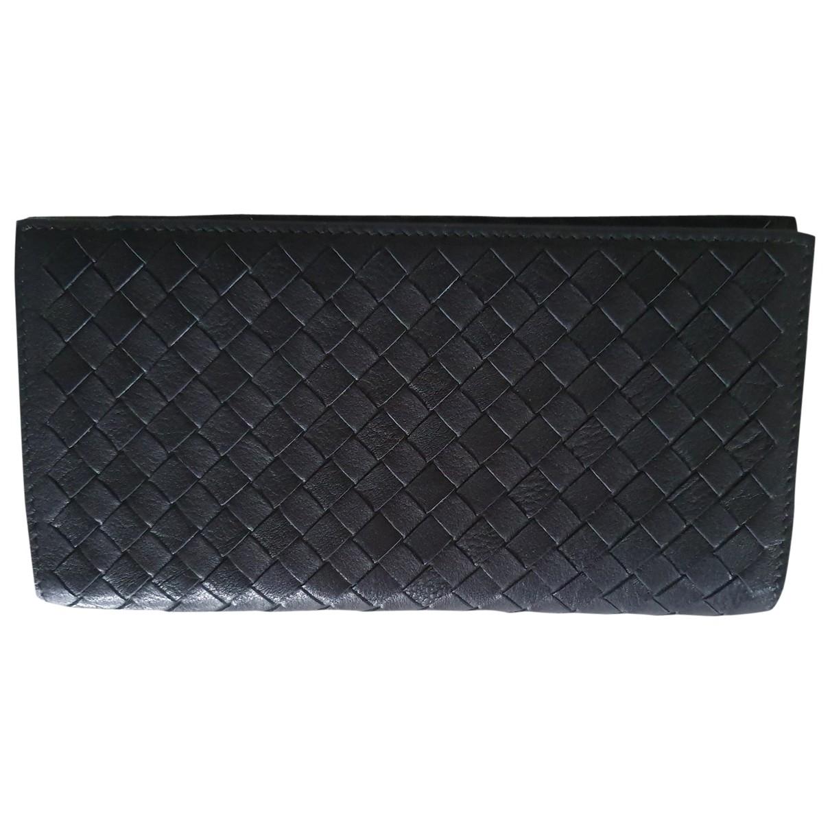 Bottega Veneta Intrecciato Black Leather wallet for Women \N