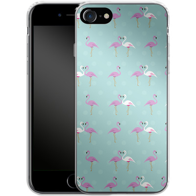 Apple iPhone 7 Silikon Handyhuelle - Two Flamingos von caseable Designs