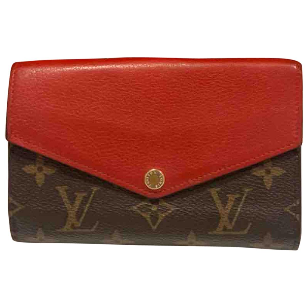 Louis Vuitton Sarah Portemonnaie in  Rot Leinen
