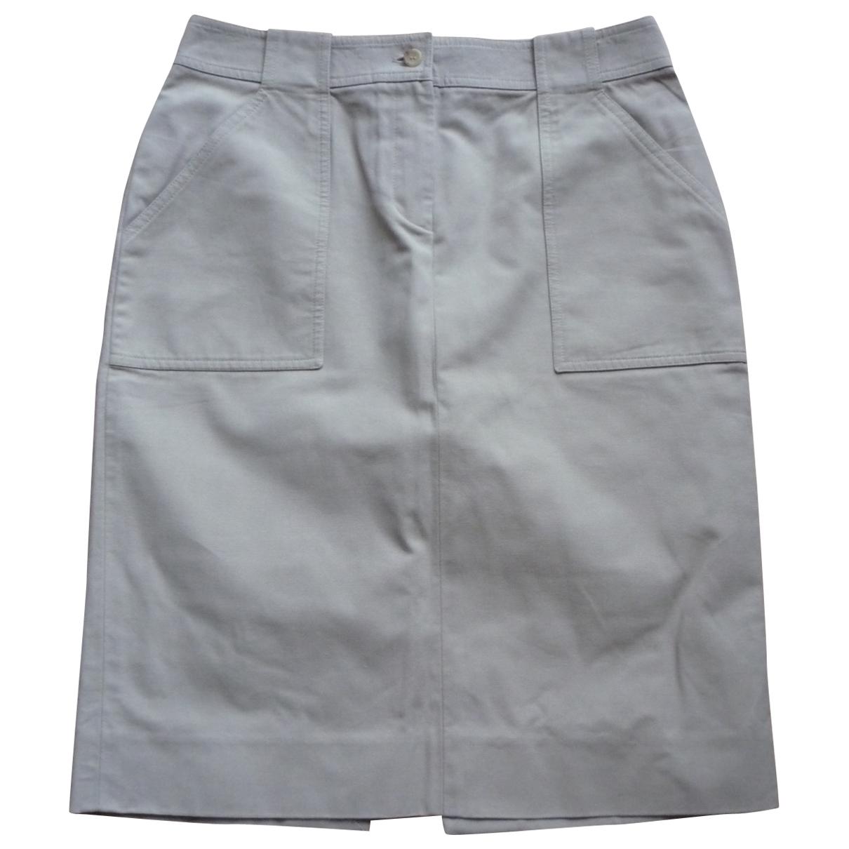 Celine - Jupe   pour femme en coton - kaki