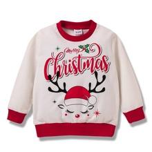 Toddler Girls Letter & Christmas Print Sweatshirt