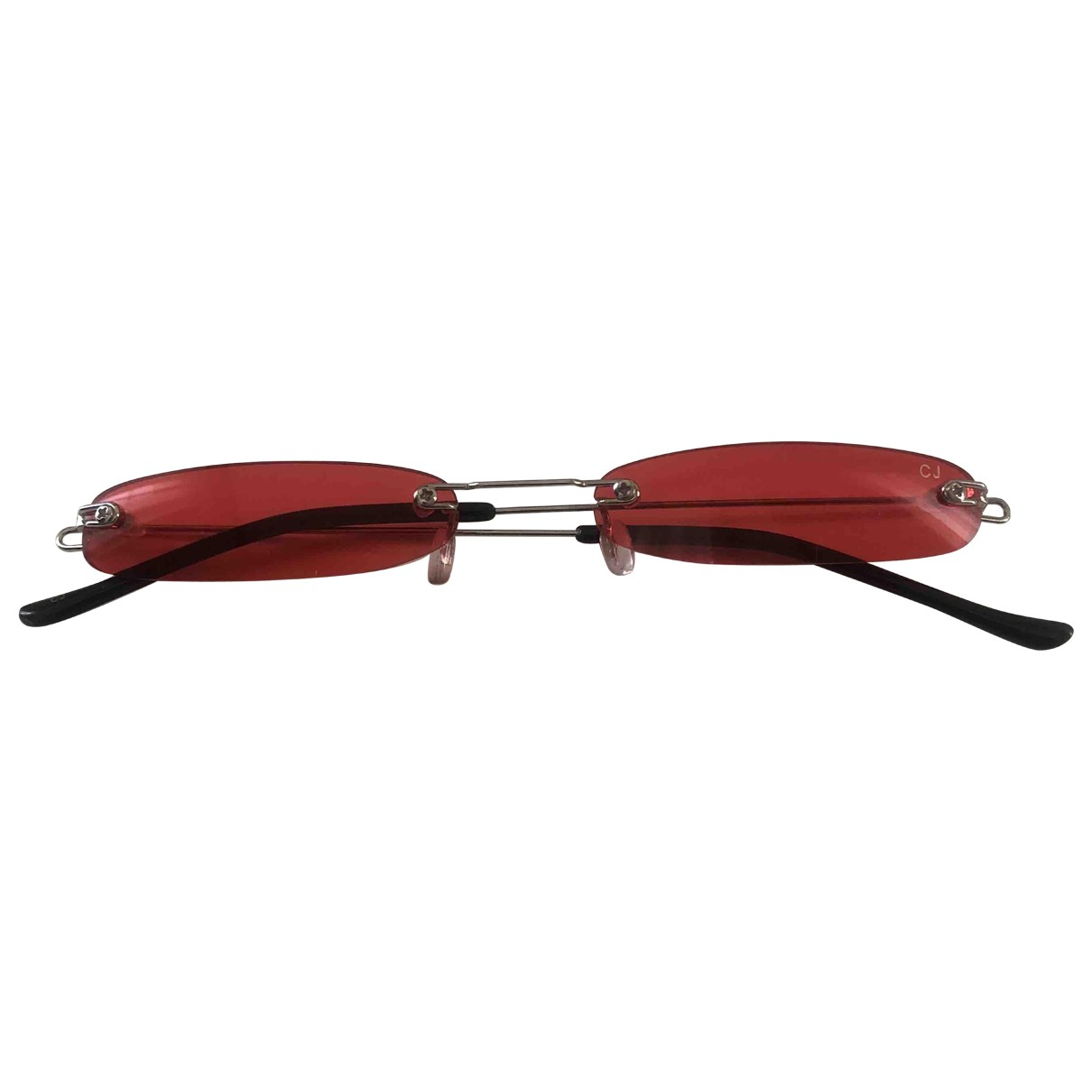 Non Signé / Unsigned \N Red Metal Sunglasses for Women \N