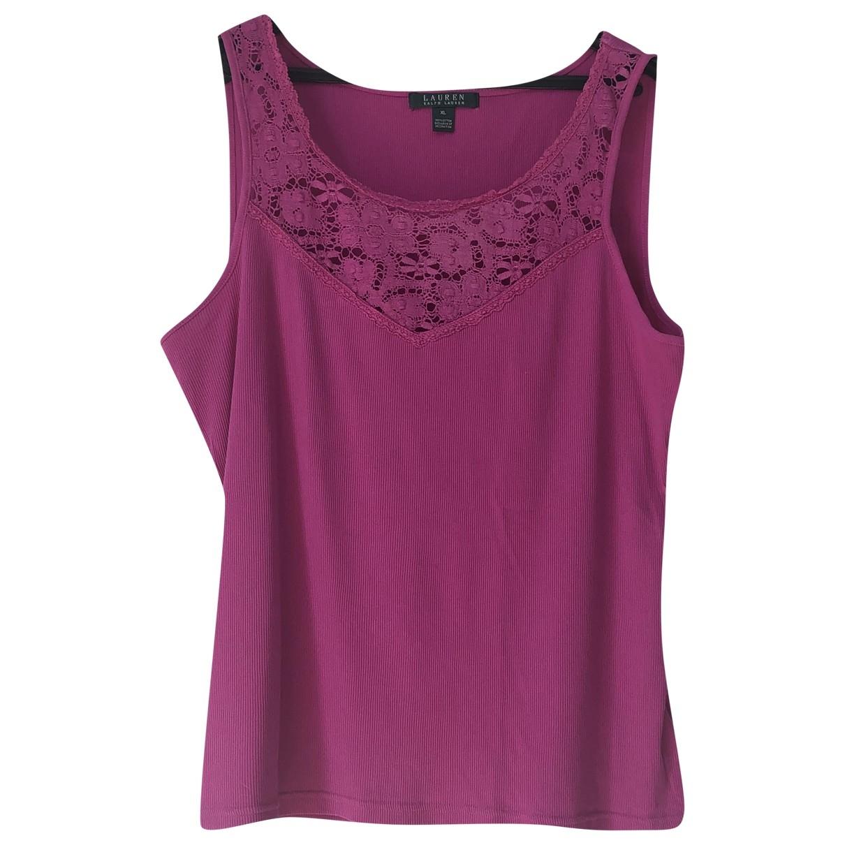 Lauren Ralph Lauren \N Pink Cotton  top for Women 44 FR