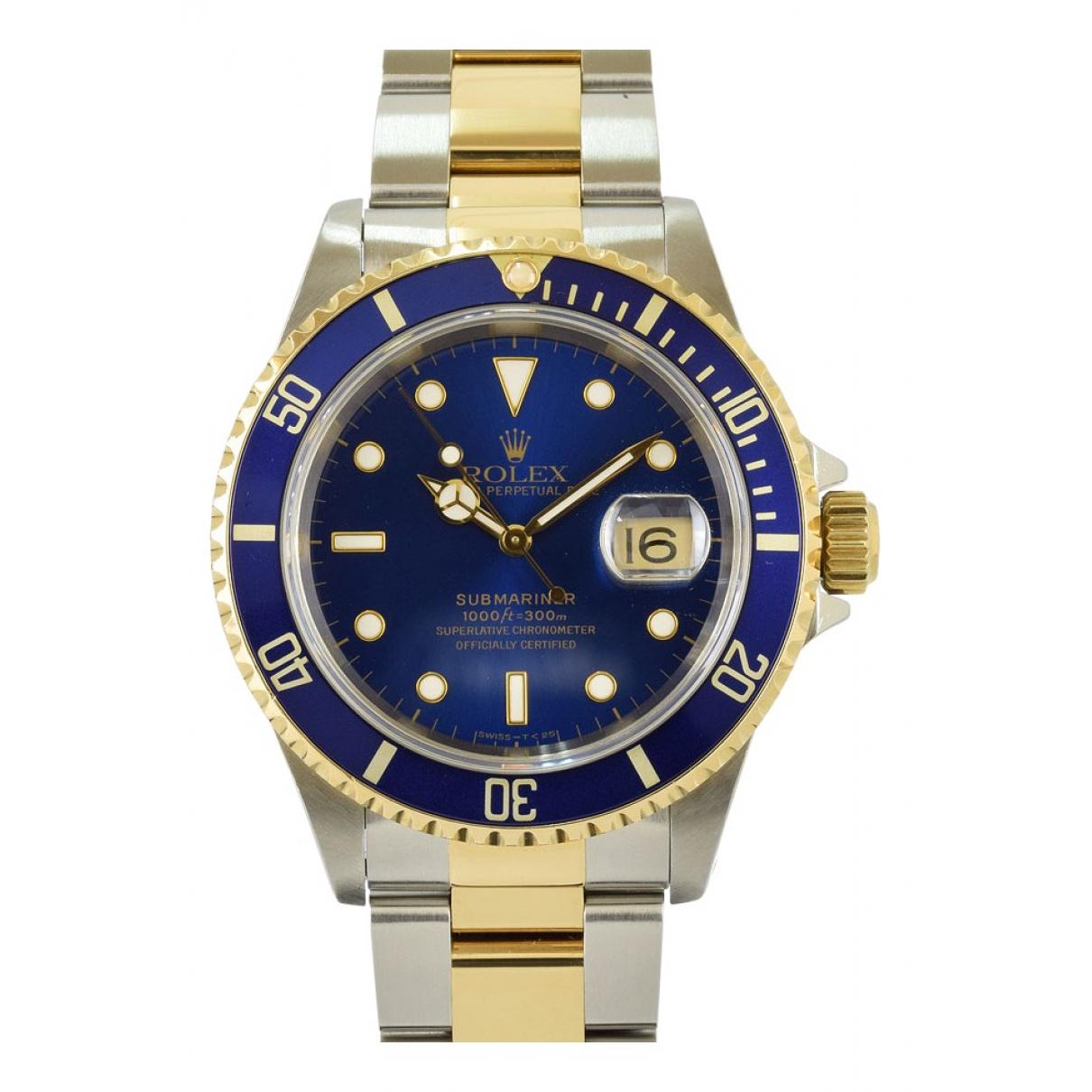 Rolex Submariner Uhr in  Blau Gold und Stahl