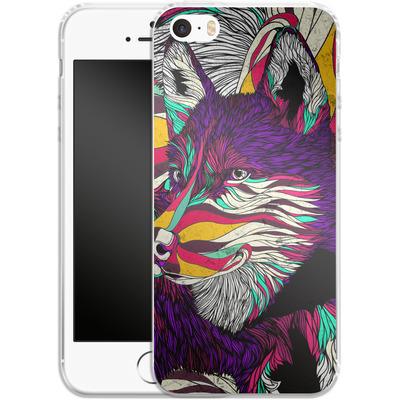 Apple iPhone SE Silikon Handyhuelle - Color Husky von Danny Ivan