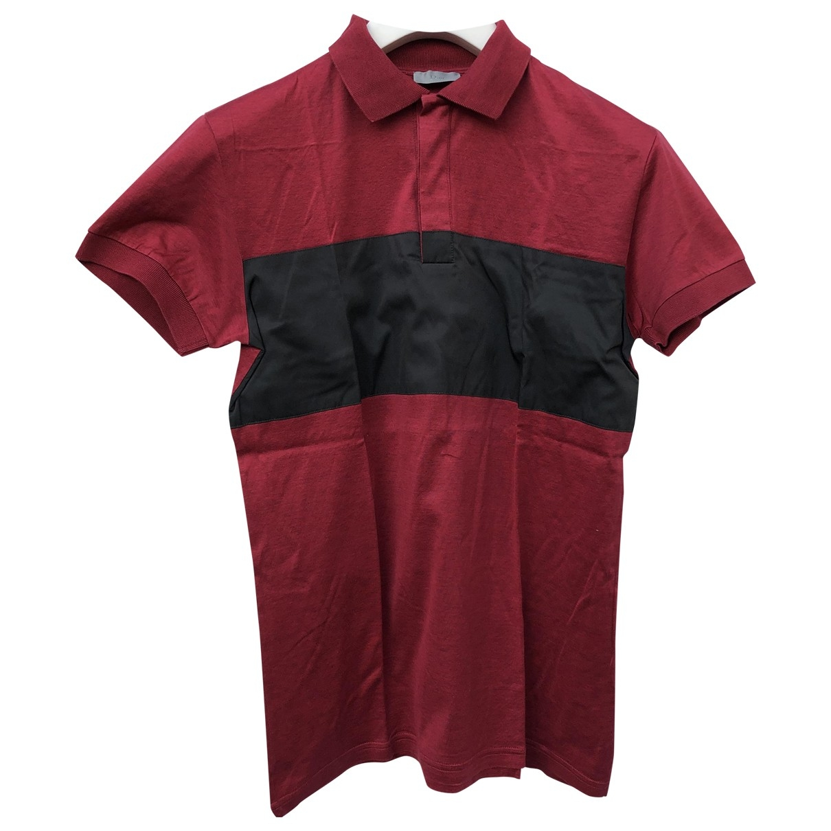 Polo en Algodon Rojo Dior Homme