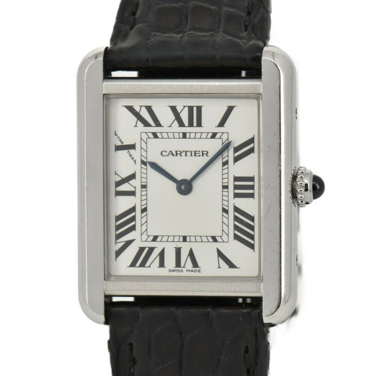Cartier Tank Solo Silver Steel watch for Women \N