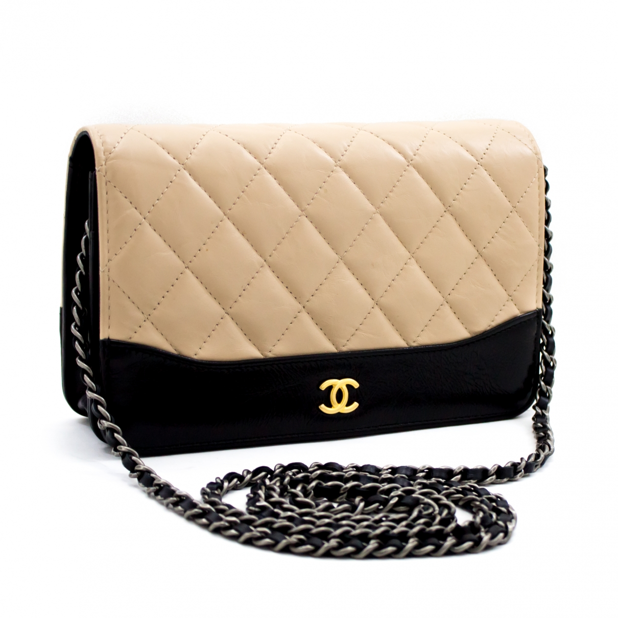 Chanel Wallet on Chain Beige Leather handbag for Women \N