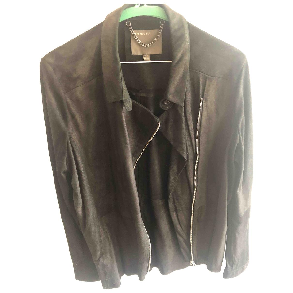 Muubaa - Veste   pour femme en suede - noir