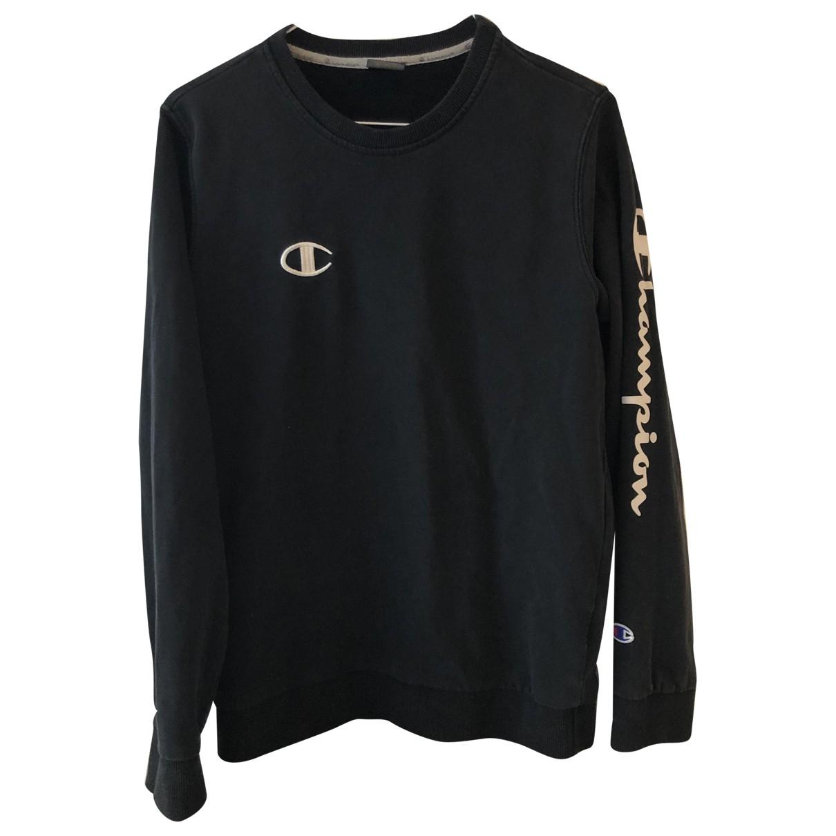 Champion - Pull   pour femme en coton - noir