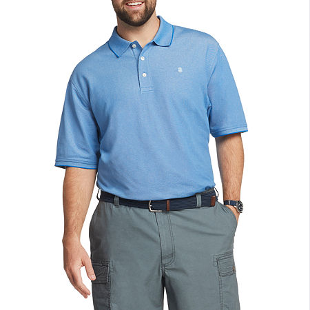 IZOD Mens Cooling Short Sleeve Polo Shirt - Big and Tall, 4x-large Tall , Blue