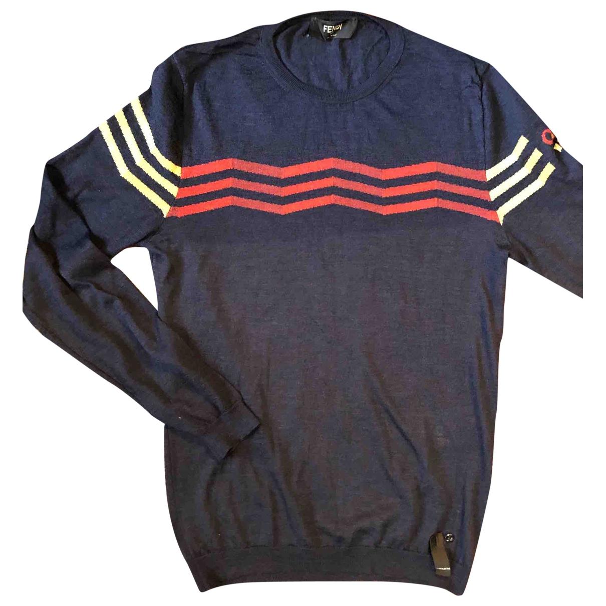 Fendi \N Navy Wool Knitwear & Sweatshirts for Men 46 IT