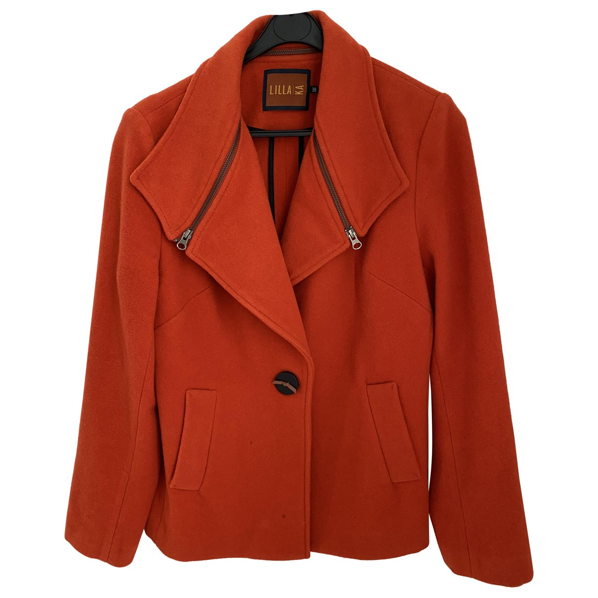 Autre Marque \N Lederjacke in  Rot Wolle