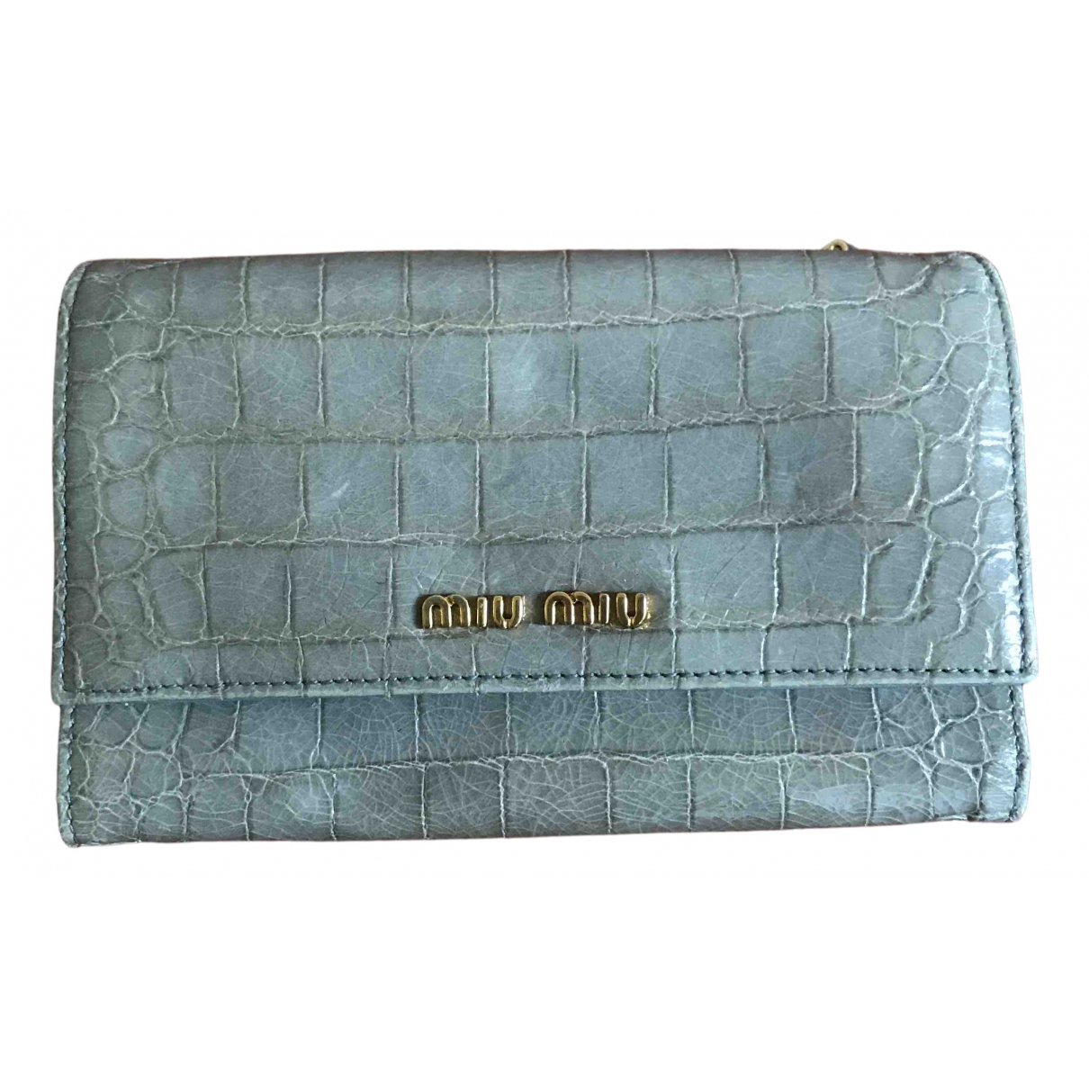 Miu Miu \N Grey Leather wallet for Women \N