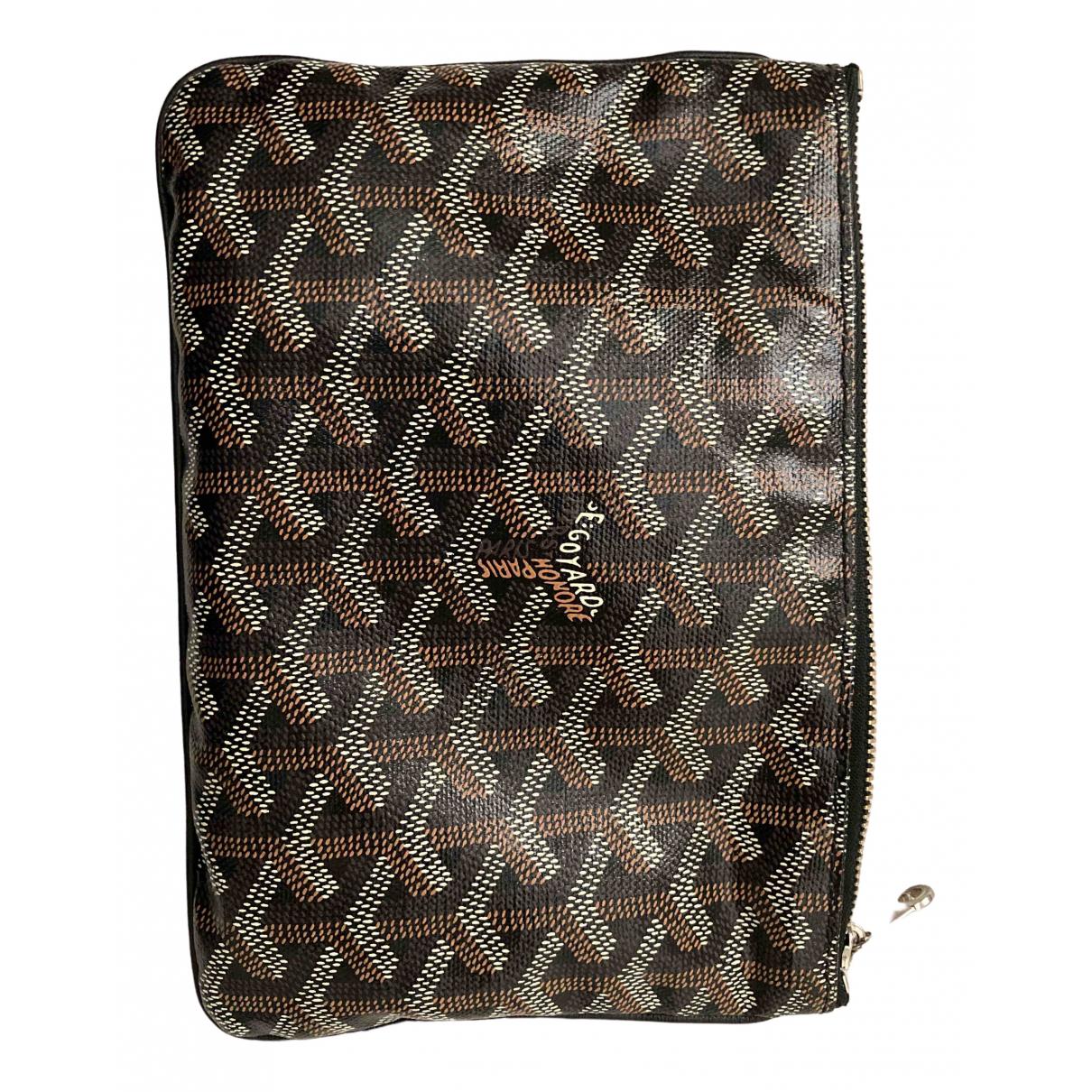 Goyard Sénat Black Cloth Small bag, wallet & cases for Men \N