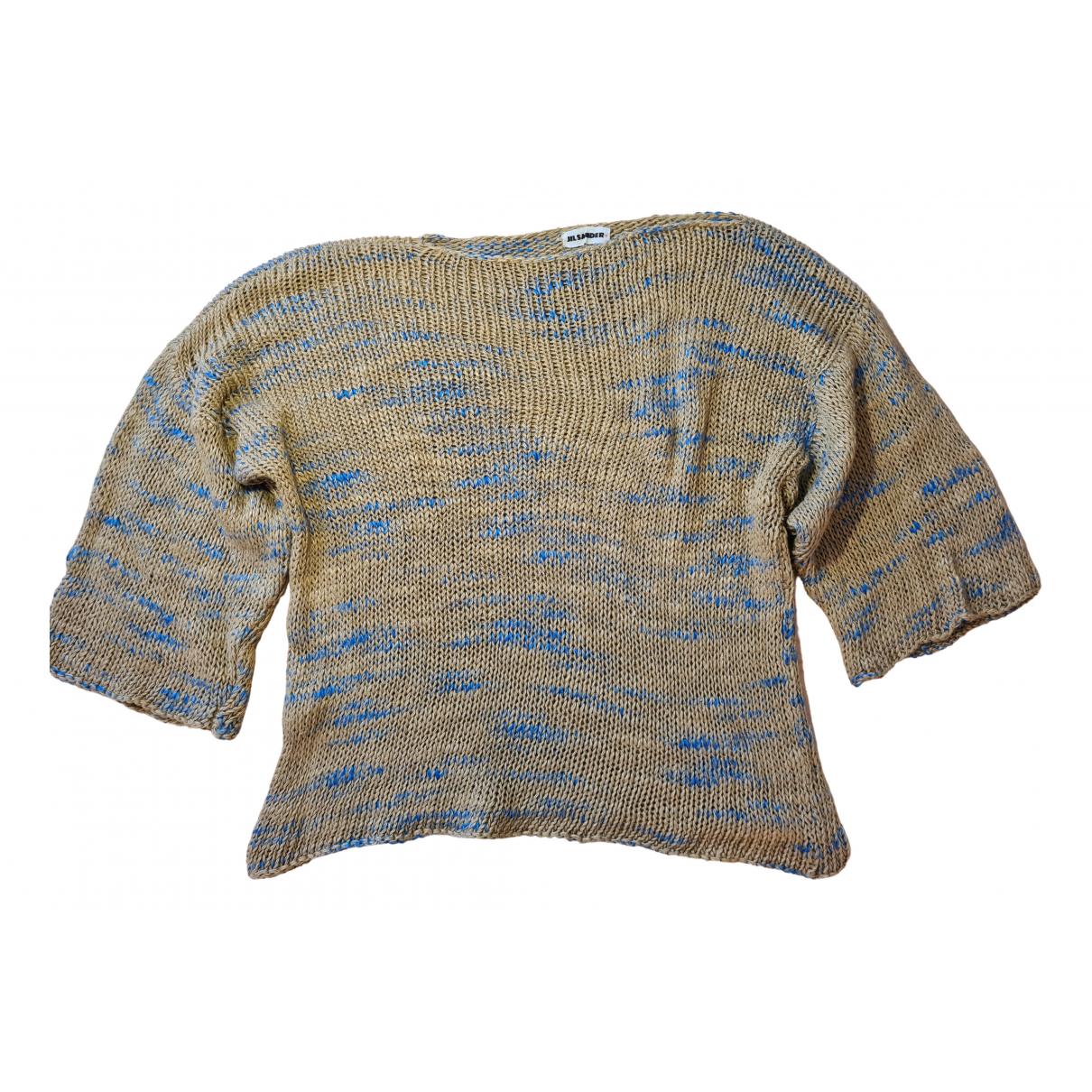 Jil Sander - Pull   pour femme en coton - beige