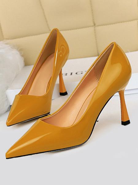 Milanoo Zapatos de vestir de tacon alto desnudo de los tacones altos de las mujeres bombas de vestir para las mujeres