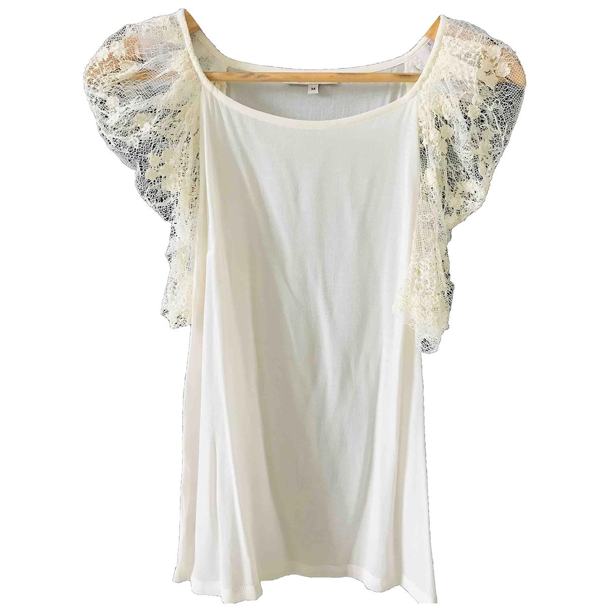 Maje \N Beige Lace  top for Women 38 FR