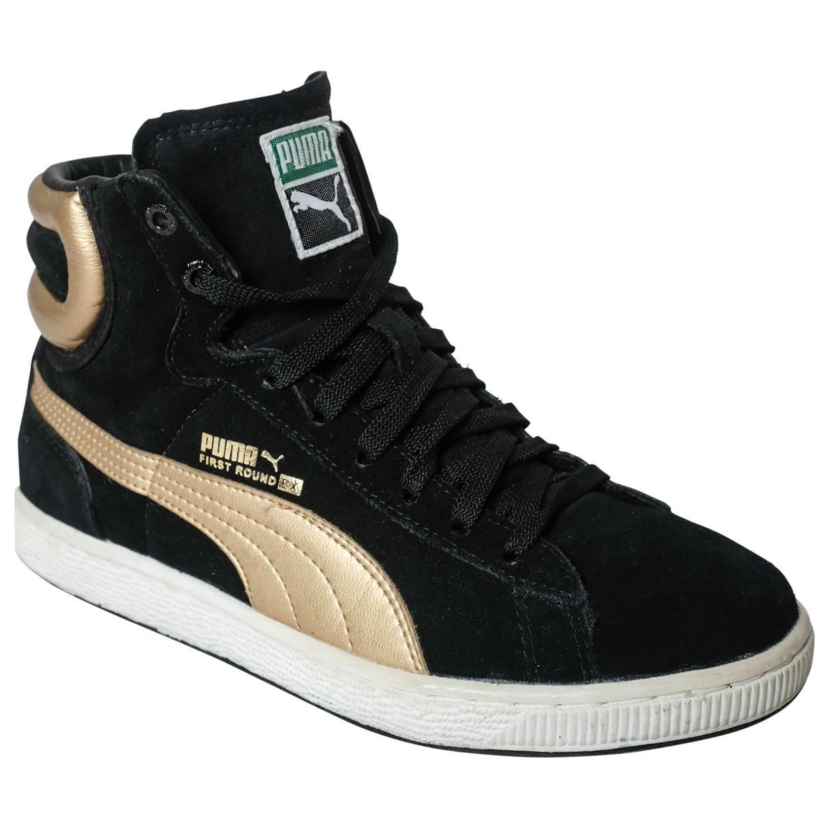Puma \N Black Leather Trainers for Women 37 EU