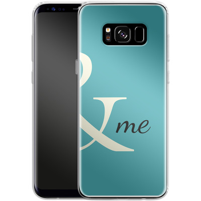 Samsung Galaxy S8 Silikon Handyhuelle - And Me von caseable Designs