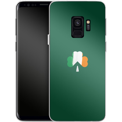 Samsung Galaxy S9 Silikon Handyhuelle - Irish Flag von caseable Designs