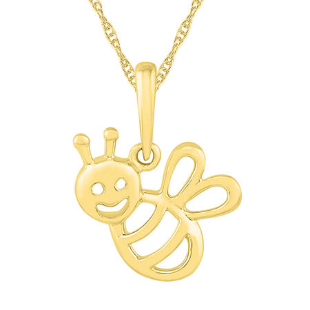 Womens 10K Gold Pendant Necklace, One Size , No Color Family