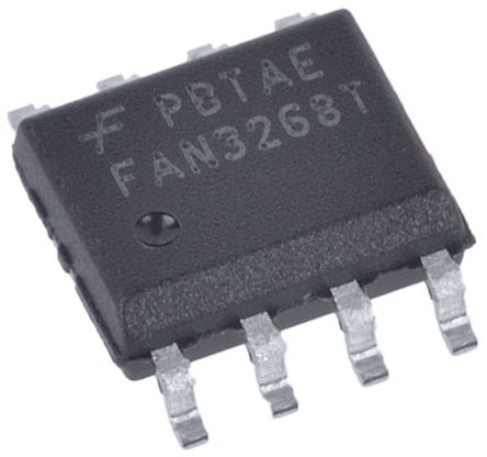 ON Semiconductor FAN3268TMX Dual High and Low Side MOSFET Power Driver, 3A 8-Pin, SOIC (5)