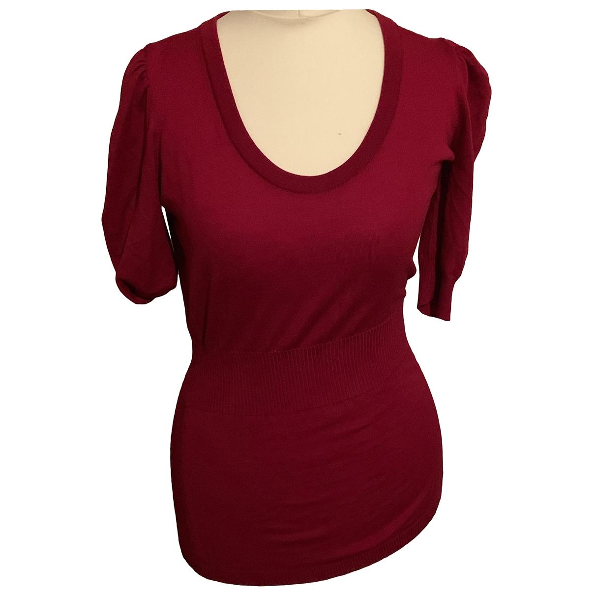 Dolce & Gabbana - Pull   pour femme en laine - rouge