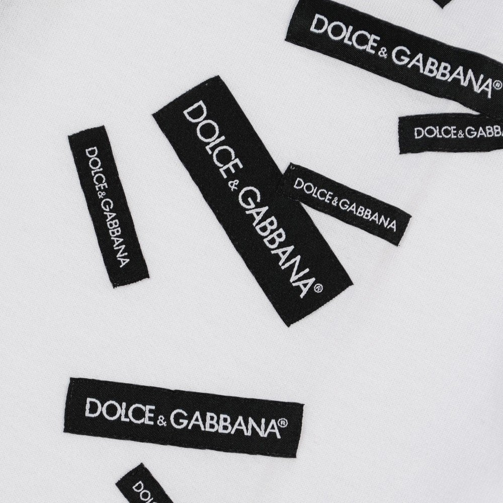 Dolce & Gabbana Kids Labled T-Shirt Colour: WHITE, Size: 10 YEARS